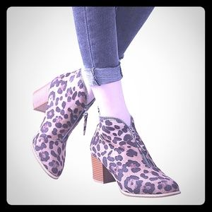 Shoes - Fall coming soon..Leopard Dress Boots with Zipper